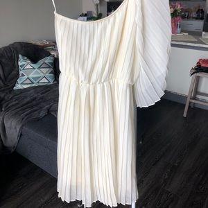 Dresses & Skirts - One-sleeve ivory/cream dress